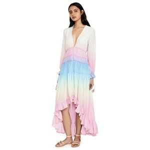 NWT Rococo Sand Ombre Ruffled Dress M White/Pink